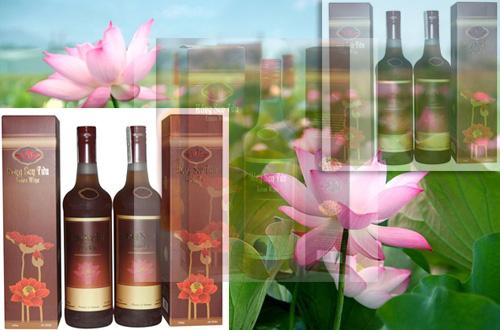 rượu hồng sen tưởu